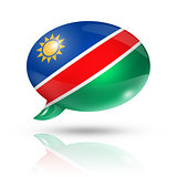 Namibian flag speech bubble