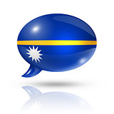 Nauru flag speech bubble