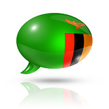 Zambian flag speech bubble