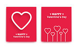 Valentines Day greeting cards. Vector illustration