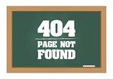 404 error message on chalkboard