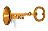 Strategy - Golden Key is Inserted into the Keyhole.