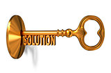Solution - Golden Key is Inserted into the Keyhole.
