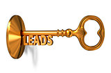 Leads - Golden Key is Inserted into the Keyhole.