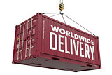 Worldwide Delivery - Brown Hanging Cargo Container.