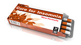 Cure for  Insomnia - Brown Pack of Pills.
