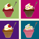 cupcakes colored