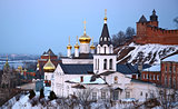 Church and Kremlin in Nizhny Novgorod