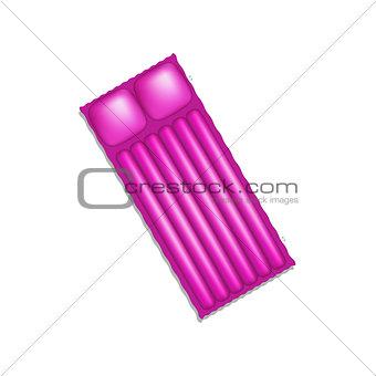 Air mattress in purple design