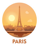 Travel destination Paris icon