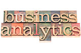 business analytics typography