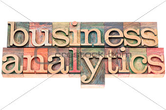 business analytics typography