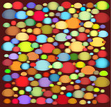 abstract shapes pattern in multiple color