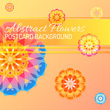 color vector abstract flowers background