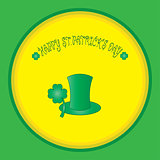 colorful background with shamrock and hat