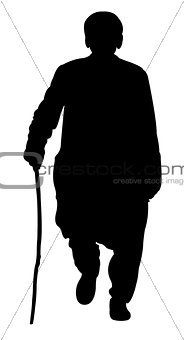 old man walking