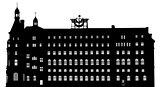 Vector silhouette of Haydarpasa railway terminal