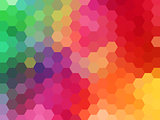 abstract geometric vector background, hexagon