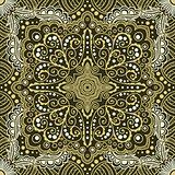 vector seamless gold pattern of spirals, swirls, chains