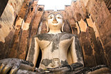 Big Buddha in Wat Si Chum at Sukhothai Historical park, Thailand