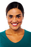 Smiling latin young woman portrait