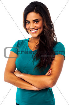 Casual portrait of smiling young woman