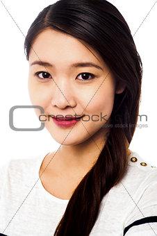 Cute young asian female model