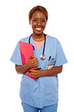 Female practitioner ready to assist senior doctor