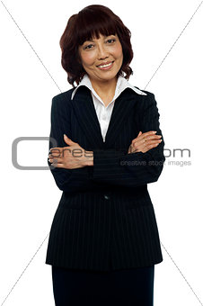 Business manager posing with her arms crossed