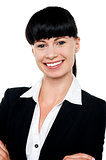 Image of young confident smiling businesswoman