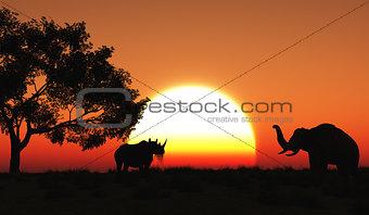 3D african landscape
