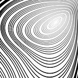 Design monochrome whirl ellipse movement background