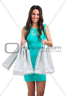Beautiful and sexy woman shopping