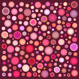 many pink orange bubbles on deep red