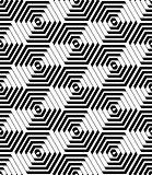 Hexagons and diamonds pattern. Seamless geometric texture.