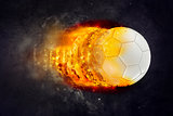 Soccer Ball Burning in Flames