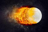 Soccer Ball Burning in Flames