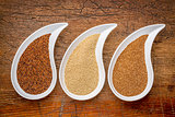 kaniwa, amaranth and teff grain