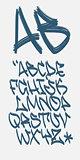 Graffiti font - Marker - Vector alphabet