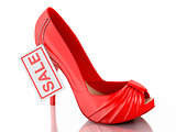 women high heel shoes 3d. Sale concept