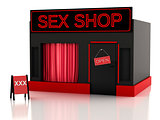 Sex shop. 3d illustration