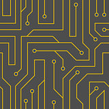 Vector black circuit board background