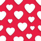 Vector seamless pattern for Valentines Day with hearts