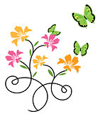 butterflies and flowers 9