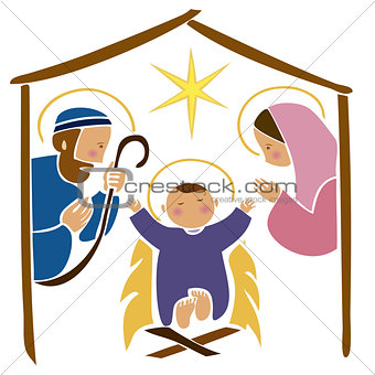 Baby Jesus in a manger 7