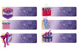 banners with gift boxes