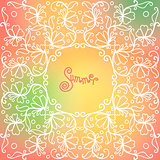 vector summer pattern of spirals, swirls, chains