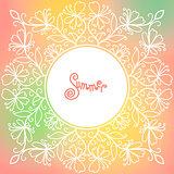 vector summer pattern of spirals, swirls, chains