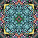 vector seamless varicolored pattern of spirals, swirls, chains