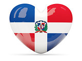 Heart shaped icon with flag of dominican republic